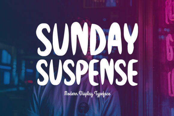 Print on Demand: Sunday Suspense Display Font By Instagram Fonts