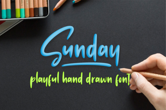 Print on Demand: Sunday Vibes Display Font By Sronstudio