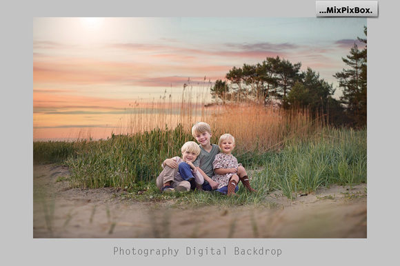 Print on Demand: Sunset Backdrops Graphic Layer Styles By MixPixBox - Image 2