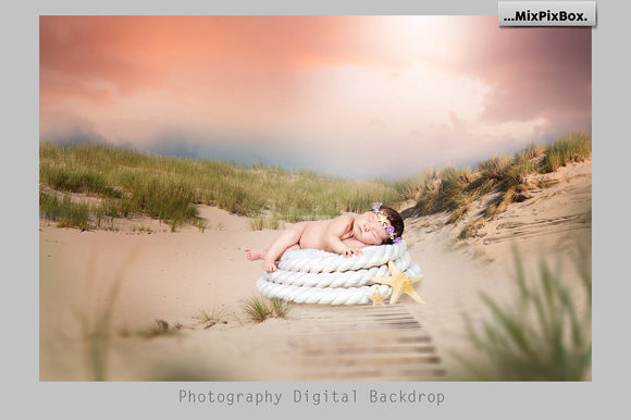 Print on Demand: Sunset Backdrops Graphic Layer Styles By MixPixBox - Image 3