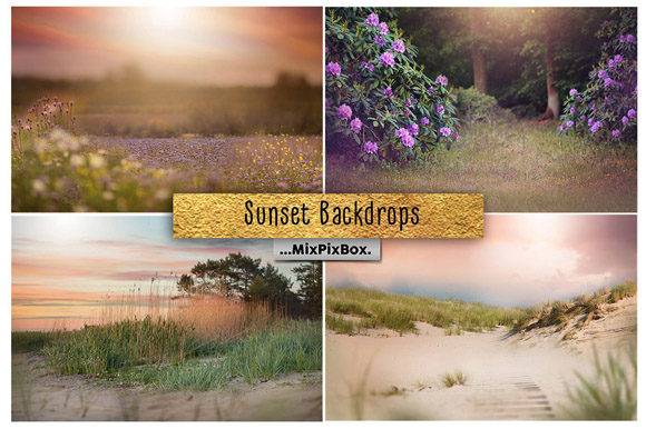 Print on Demand: Sunset Backdrops Graphic Layer Styles By MixPixBox