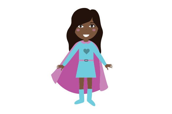 Superhero Designs for Girls Designs & Drawings Craft Cut File By Creative Fabrica Crafts
