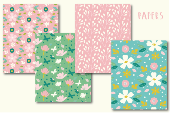 Print on Demand: Sweet Meadow Papers Graphic Illustrations By poppymoondesign - Image 2
