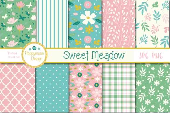 Print on Demand: Sweet Meadow Papers Graphic Illustrations By poppymoondesign