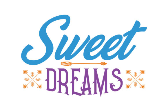 Print on Demand: Sweet Dreams Quote SVG Cut Graphic Crafts By TheLucky