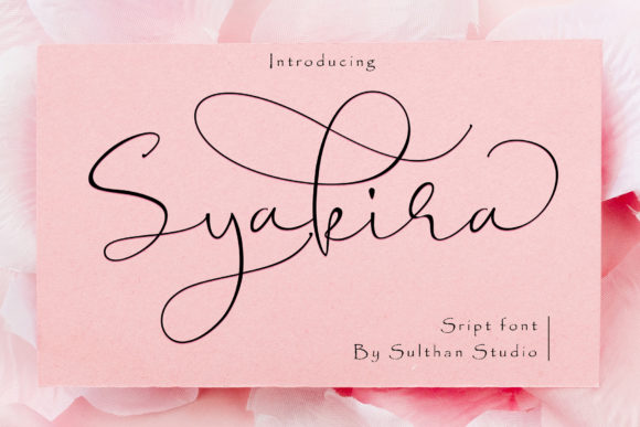 Print on Demand: Syakira Script Script & Handwritten Font By Sulthan Studio