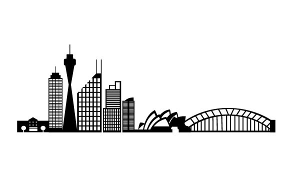 Download Free Sydney Landmark Skyline Svg Cut File By Creative Fabrica Crafts for Cricut Explore, Silhouette and other cutting machines.