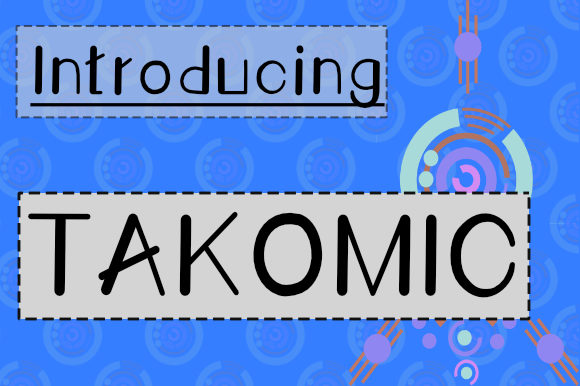 Print on Demand: Takomic Script & Handwritten Font By Plotterfreak - Kikomin