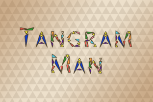 Tangram Man Font By Marlee Pagels