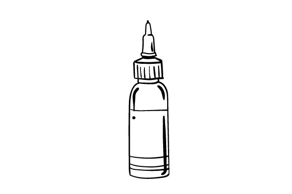Download Free Tattoo Ink Bottle Svg Cut File By Creative Fabrica Crafts for Cricut Explore, Silhouette and other cutting machines.