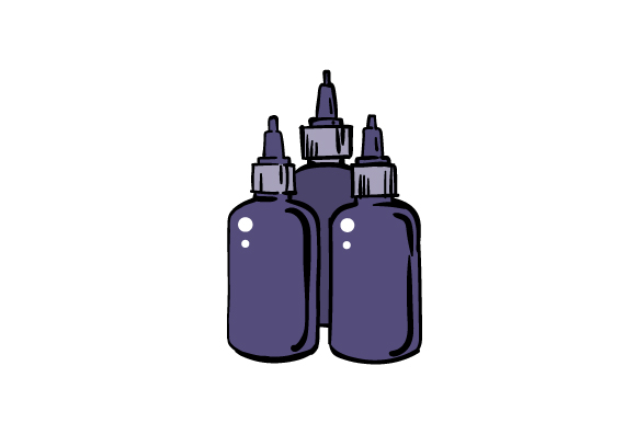 Download Free Tattoo Ink Bottles Svg Cut File By Creative Fabrica Crafts SVG Cut Files