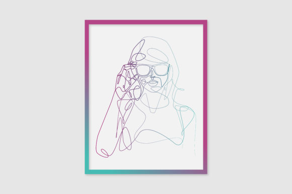 Taylor Swift with Glasses Line Art Poster Graphic Illustrations By RICHLINE DESIGN