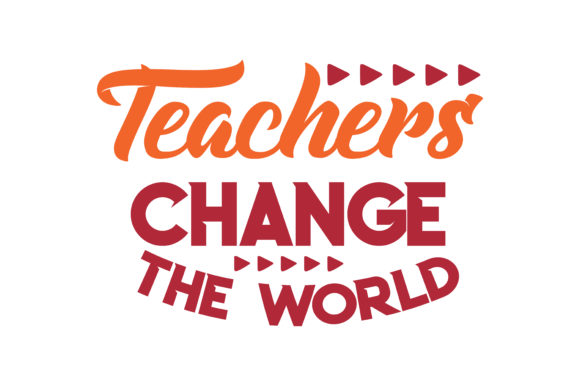 Download Free Teachers Change The World Quote Svg Cut Graphic By Thelucky Creative Fabrica for Cricut Explore, Silhouette and other cutting machines.
