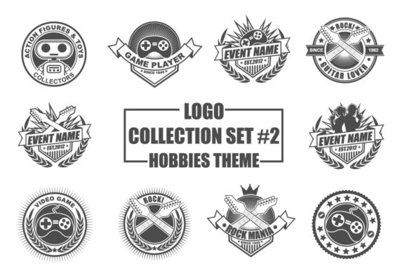 Print on Demand: Template Logo Collection Set Graphic Logos By azkaryzki