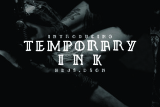Temporary Ink Font By Hdjs.design