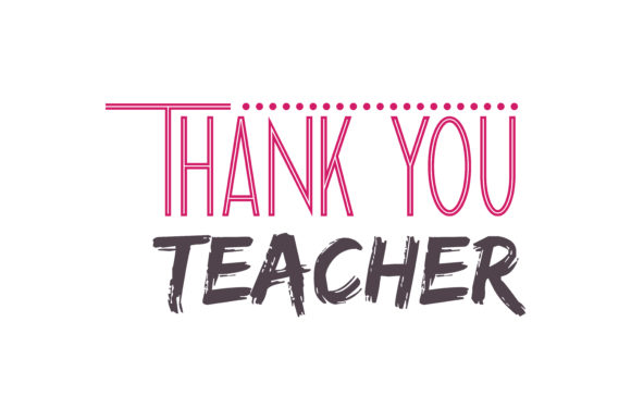 Download Free Thank You Teacher Quote Svg Cut Graphic By Thelucky Creative for Cricut Explore, Silhouette and other cutting machines.