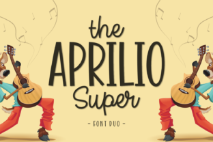 The Aprilio Super Font By Keithzo (7NTypes)