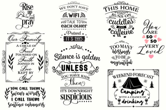 Download Free The Big Svg Bundle Graphic By Nerd Mama Cut Files Creative Fabrica for Cricut Explore, Silhouette and other cutting machines.