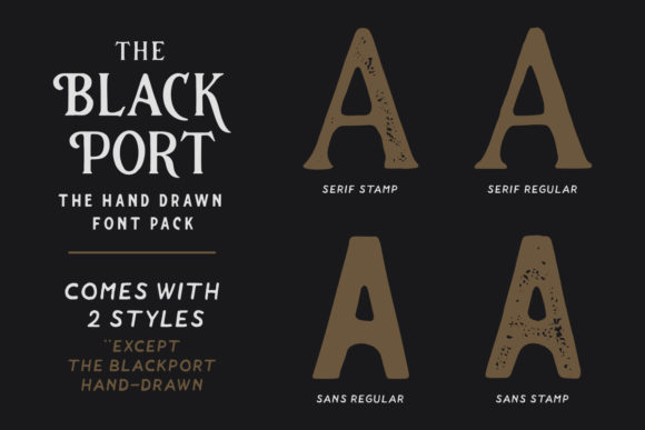 Print on Demand: The Blackport Family Script & Handwritten Font By ironbirdcreative - Image 3