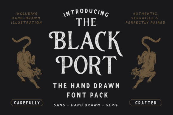 Print on Demand: The Blackport Family Script & Handwritten Font By ironbirdcreative