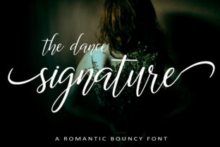 Print on Demand: The Dance Signature Script & Handwritten Font By aminmario
