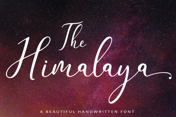 Print on Demand: The Himalaya Script & Handwritten Font By aminmario