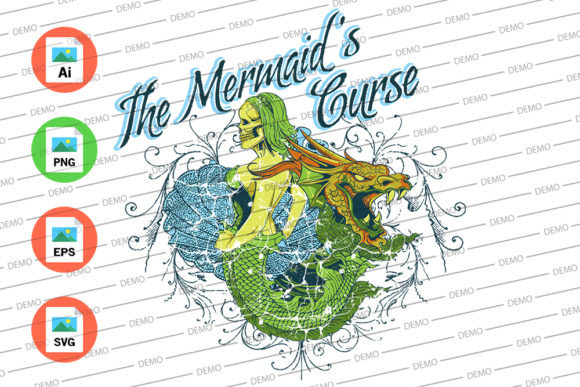 The Mermaid Curse Graphic Illustrations By Skull and Rose - Image 3