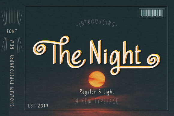 Print on Demand: The Night Display Font By ShowUp! Typefoundry