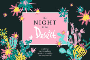 The Night in the Desert Graphic By dinkoobraz