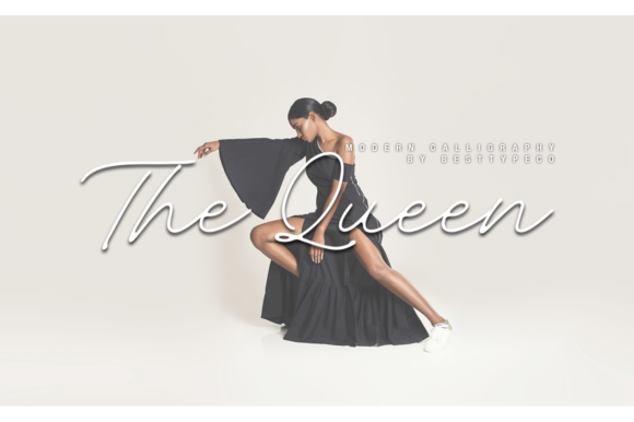 Print on Demand: The Queen Script & Handwritten Font By besttypeco