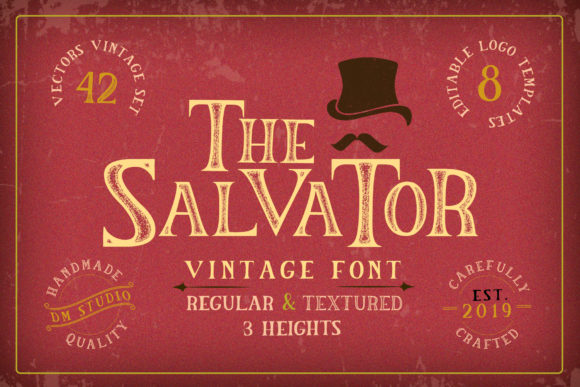 Print on Demand: The Salvator Sans Serif Font By dmletter31