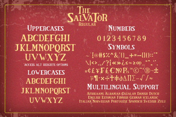 The Salvator Font Font