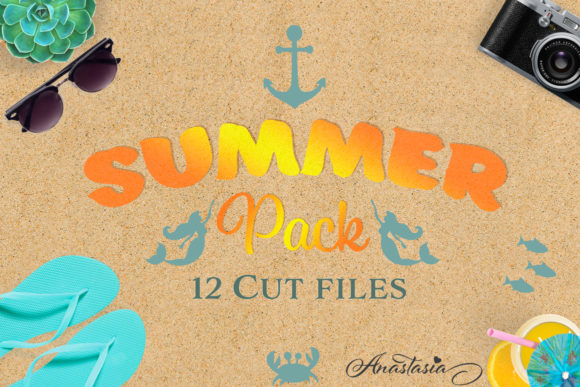 Download Free The Summer Bundle Graphic By Nerd Mama Cut Files Creative Fabrica for Cricut Explore, Silhouette and other cutting machines.