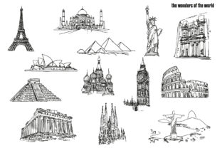 The Wonders of the World Graphic Illustrations By GiordanoAita