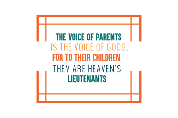 Download Free The Voice Of Parents Is The Voice Of Gods For To Their Children for Cricut Explore, Silhouette and other cutting machines.