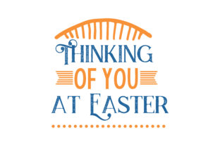 Download Free Thinking Of You At Easter Quote Svg Cut Grafik Von Thelucky SVG Cut Files