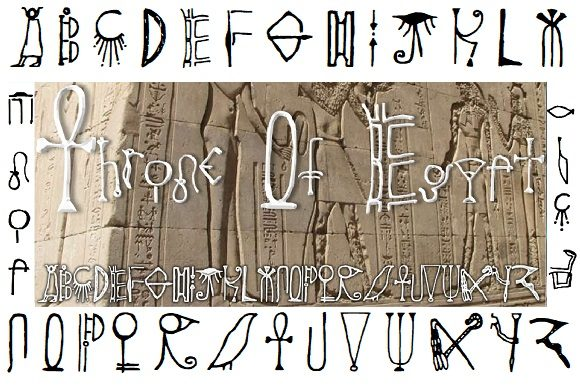 Print on Demand: Throne of Egypt Decorative Font By Shelley