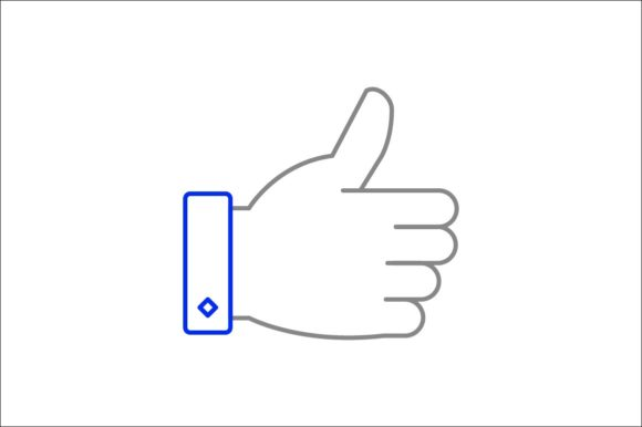 Print on Demand: Thumb Up Grafik Icons von khld939