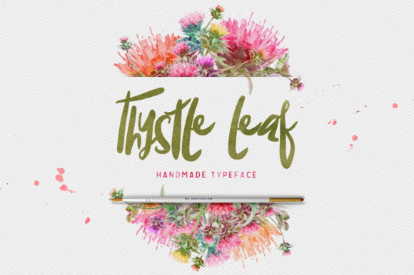 Thysle Leaf Display Font By Creativeqube Design