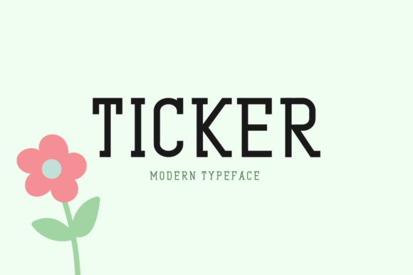 Print on Demand: Ticker Display Font By Shattered Notion