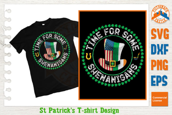 Print on Demand: Time for Some Shenanigans St Patrick's Day Graphic Crafts By graphicza