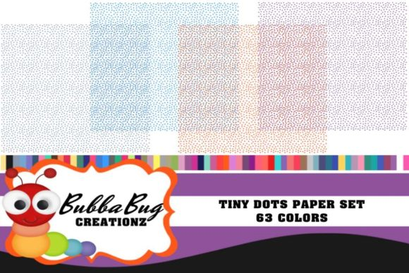 Tiny Dots Paper Set Graphic Patterns By BUBBABUG - Image 1