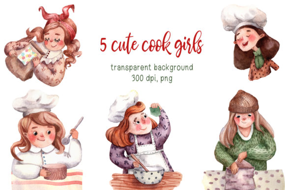 Download Free Tiny Kitchen Watercolor Clip Art Set Graphic By Mashamashastu for Cricut Explore, Silhouette and other cutting machines.