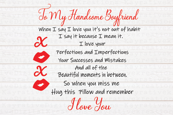 Download Free To My Boyfriend Svg Boyfriend Gift Graphic By Kayla Griffin for Cricut Explore, Silhouette and other cutting machines.