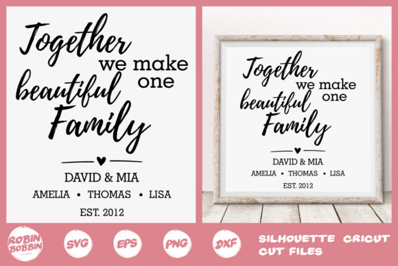 Print on Demand: Together We Make One Beautiful Family Graphic Crafts By RobinBobbinDesign
