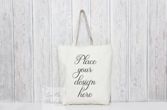 Print on Demand: Tote Grocery Shopping Bag Mock Up Graphic Product Mockups By Leo Flo Mockups