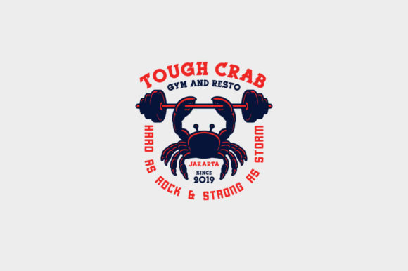 Download Free Tough Crab Logo Template Graphic By Kreasimalam Creative Fabrica for Cricut Explore, Silhouette and other cutting machines.