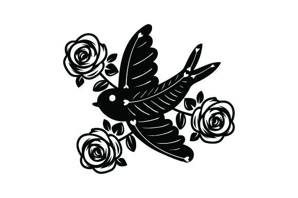 Download Free Traditional Style Tattoo Svg Cut File By Creative Fabrica Crafts for Cricut Explore, Silhouette and other cutting machines.