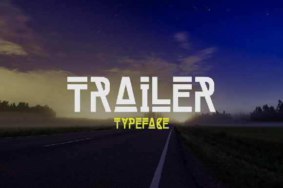 Print on Demand: Trailer Display Font By da_only_aan