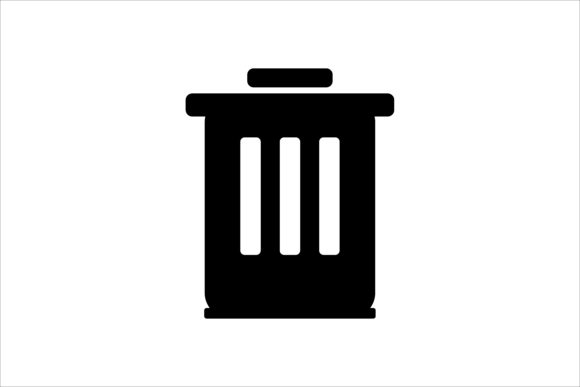 Download Free Black Trash Can Icon Graphic By Leisureprojects Creative Fabrica for Cricut Explore, Silhouette and other cutting machines.